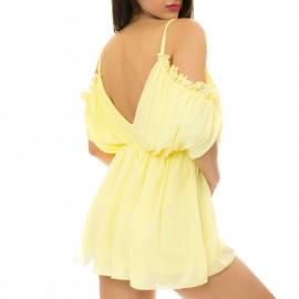 Κίτρινο Ολόσωμο Σορτς