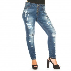 Skinny Jeans με Ξεβάμματα