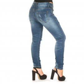 Skinny Jean με Ξεβάμματα