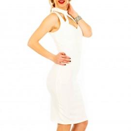 Λευκό Midi Φόρεμα