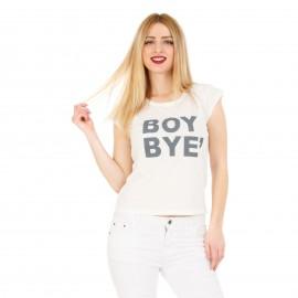 Λευκό T-Shirt με Γράμματα
