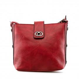 Κόκκινη Τετράγωνη Τσάντα Ώμου