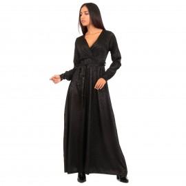 Μαύρο Λεοπάρ Maxi Φόρεμα...