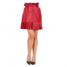 Κόκκινη Mini Φούστα με...