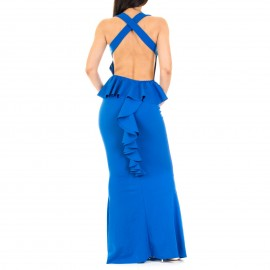 Μπλε Maxi Φόρεμα