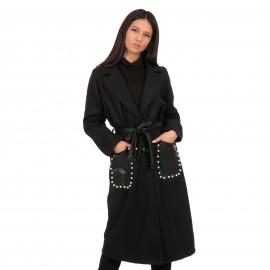 Μαύρο Παλτό με Πέρλες στην...