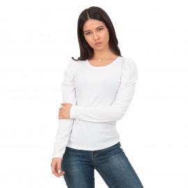 Λευκή Ripped Μπλούζα με...