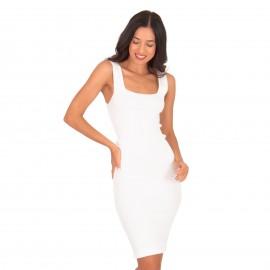 Λευκό Ripped Mini Φόρεμα