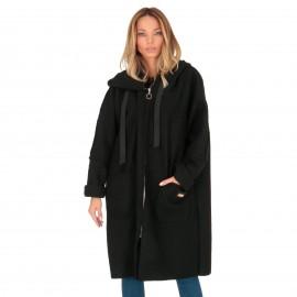 Μαύρο Παλτό με Κουκούλα