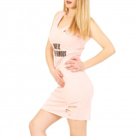 Ροζ Midi Φόρεμα