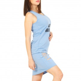 Γαλάζιο Midi Φόρεμα