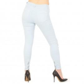 Γαλάζιο Ψηλόμεσο Skinny Jean με Τρουκς