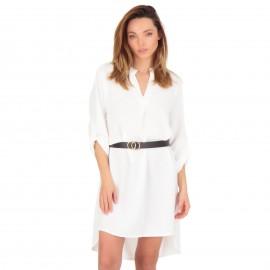 Λευκό Ασύμμετρο Mini Φόρεμα...