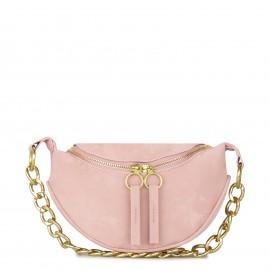 Ροζ Bum Bag με Αλυσίδα