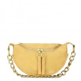 Κίτρινο Bum Bag με Αλυσίδα