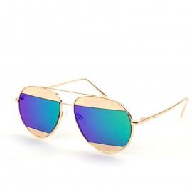 Δίχρωμα Γυαλιά Ηλίου με Οβάλ Φακό