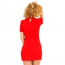 Κόκκινο Εφαρμοστό Mini Φόρεμα