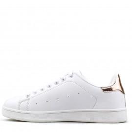 Λευκά Sneakers με Bronze Λεπτομέρεια