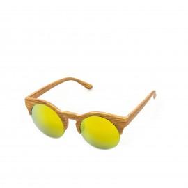 Ξύλινα Γυαλιά Ηλίου με Στρογγυλό Φακό