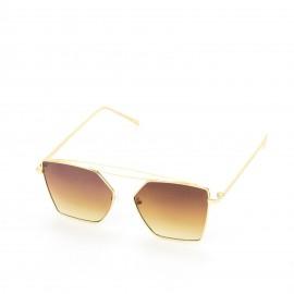 Γυαλιά Ηλίου με Καφέ Τετράγωνο Φακό