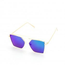 Γυαλιά Ηλίου με Μπλε Τετράγωνο Φακό