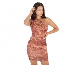 One Shoulder Mini Φόρεμα με...