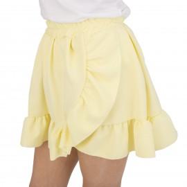 Κίτρινη Mini Φούστα με Βολάν