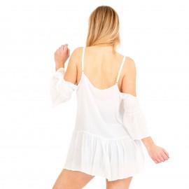 Λευκή Μπλούζα με Έξω τους ώμους