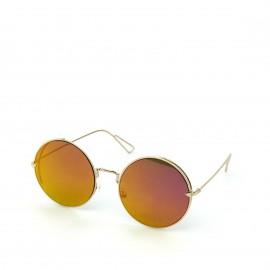 Γυαλιά Ηλίου με Πορτοκαλί Στρογγυλό Φακό