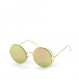 Γυαλιά Ηλίου με Ροζ Στρογγυλό Φακό