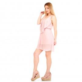 Ρόζ Mini Φόρεμα