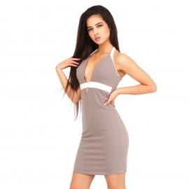 Γκρι Εφαρμοστό Mini Φόρεμα