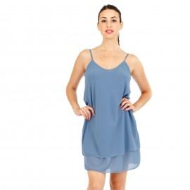 Μπλέ Mini Φόρεμα