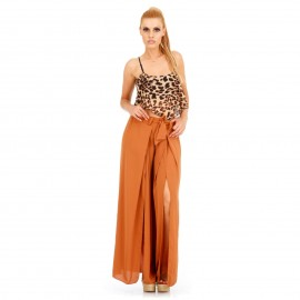 Camel Παντελόνα με Σκισίματα