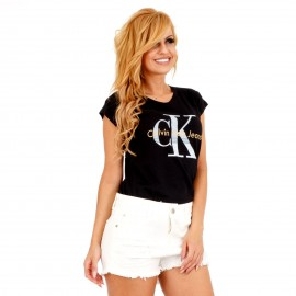 """Μαύρο T-Shirt με Γράμματα """"Ck"""""""