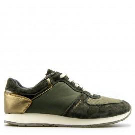 Χακί Δερμάτινα Sneakers Gant