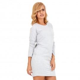 Γκρι Mini Φόρεμα με Κορδέλα