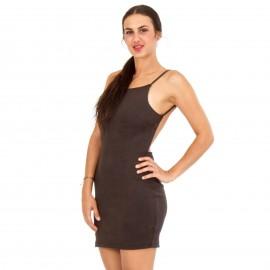 Μαύρο Mini Φόρεμα με Έξω τους Ώμους