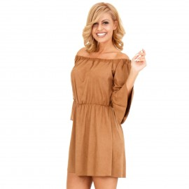 Camel Σουέτ Mini Φόρεμα