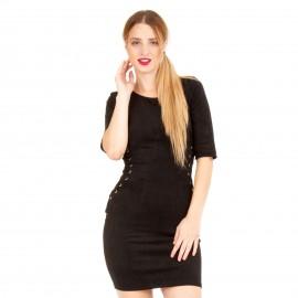 Μαύρο Εφαρμοστό Min Φόρεμα