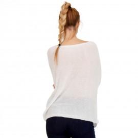 Λευκή Μακρυμάνικη C-Throu Μπλούζα