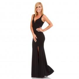 Μαύρο Maxi Φόρεμα με Σκίσιμο
