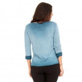 Γαλάζιο Μακρυμάνικο Μπλουζάκι