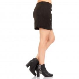 Μαύρη Ψηλόμεση Mini Φούστα