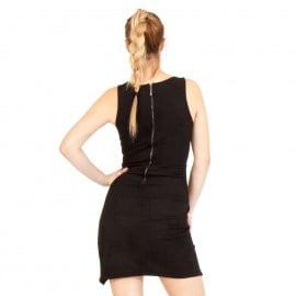 Μαύρο Σουέτ Mini Φόρεμα