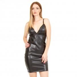 Μαύρο Mat Mini Φόρεμα