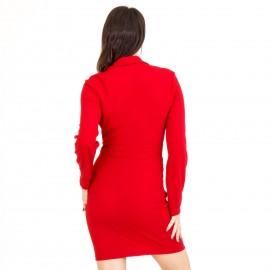 Μπορντό Mini Φόρεμα