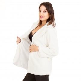 Λευκό Γούνινο Παλτό