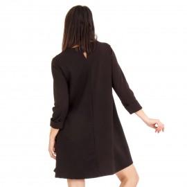 Μαύρο Mini Φόρεμα με Πέρλες