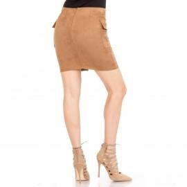 Camel Mini Φούστα με Κορδόνια